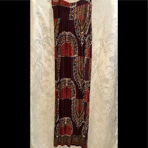 Akualani Strapless Maxi Dress